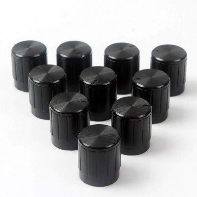 Preisvergleich Produktbild Wankeshu 10Pcs Schwarz Kunststoff Potentiometer Knopf 6Mm Schachtloch - Schwarz