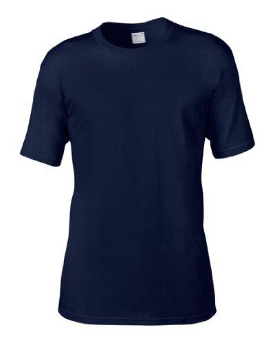 AnvilHerren T-Shirt Blau - Navy