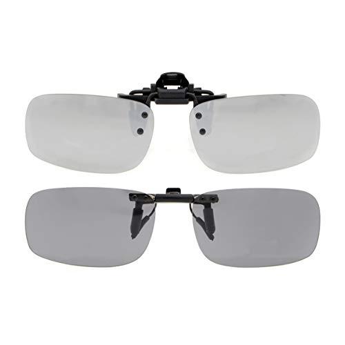 Eyekepper Aufklappbare Sonnenbrille Polarisierte 53x33 MM 2er Pack Metall Brille Clip