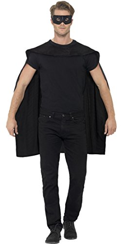 erdbeerloft - Herren Superhero Umhang mit Maske Kostüm -