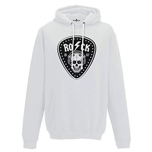 KiarenzaFD Musica Hard Rock Heavy Metal AC/DC Totenkopf Old School Thunder, KFC02173-XL-white, weiß, XL - Pantera-metal-skull T-shirt