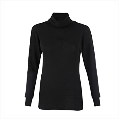Women's Luxury Merino Wool & Mulberry Silk Thermal Polo Neck / Roll neck