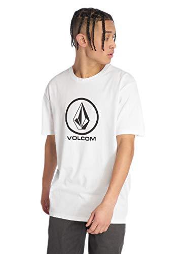 Volcom Herren Crisp Stone BSC S/S T-Shirt, White, S - Volcom-logos