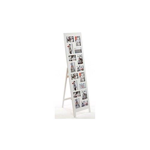 Marco de fotos múltiples con pie en forma de caballete - Color negro; capacidad para 16 fotos