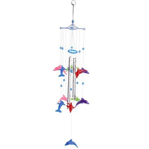 Dealmux Plastique Dolphin Motif cadeaux de Noël Perles Pendentif à suspendre Windbell Multicolore