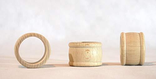 Portatovaglioli in legno, set di 6 pezzi