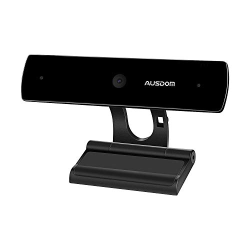 AUSDOM Webcam 1080P Full HD con Micrófono Estéreo, Cámara Web PC para Video Chat y Grabación, Compatible con Windows, Mac OS, Android