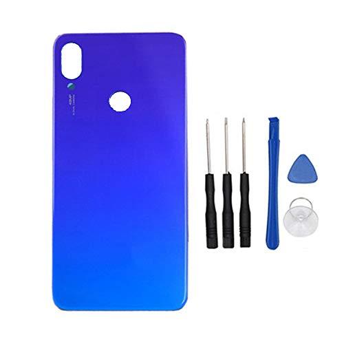 Soliocial Trasera Tapa de Batería Battery Cover Carcasa para Xiaomi Redmi Note 7 / Redmi Note 7 Pro Blue