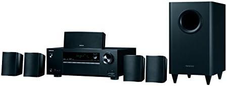 Onkyo 5.1 Heimkinosystem mit AV Receiver und Lautsprecher, HT-S3800-B, 100 Watt/Kanal, Multiroom, Dolby TrueHD, Bluetooth, Radio, Front USB/Audio in, Schwarz, 1500236