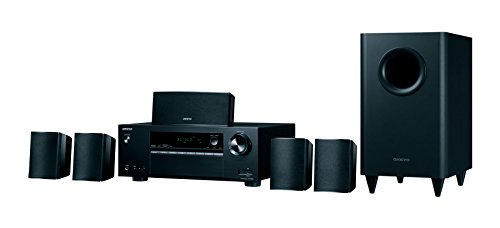 Onkyo 5.1 Channel Home Cinema Receiver and Speaker - Black