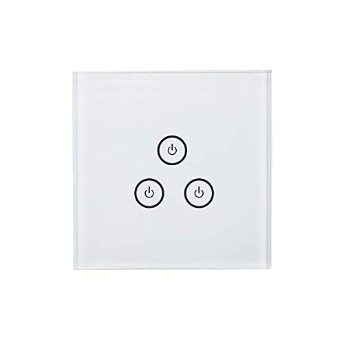 Smart Light Switches, Meross WiFi Light Switch Works with Alexa and Google  Home (1 Way 3 Gang)
