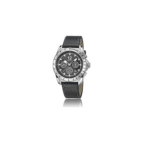 Breil orologio da uomo con cronografo e cinturino in pelle nera TW1141