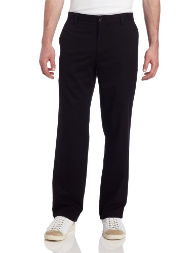 Dockers Hose für Herren, Khaki, gerader Schnitt, Vorderhose Gr. 32W x 34L (US Größe), schwarz (Flat Front Herren Dockers)