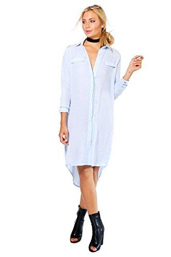 fb6e03cd45e Bleu Femmes Tessa Chemise Style Tisser Robe Bleu Prix Bas Pas Cher ...