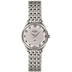 Rotary LB08000-18/Women's Quartz Analogue Watch-Stainless Steel Strap