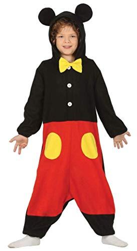 Guirca costume kigurumi topolino mikey mouse carnevale bambino 8847_ 5-6 anni