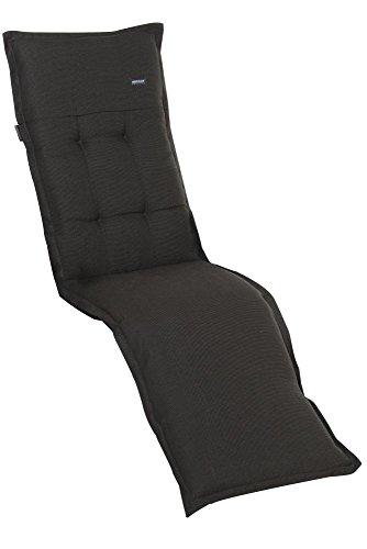 6 Stück MADISON Dessin Rib Auflage für Relaxliege, Liegenauflage, 100% Polyester, 160 x 50 x 4 cm, in schwarz