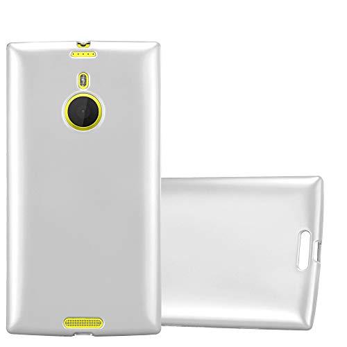 Cadorabo Hülle für Nokia Lumia 1520 - Hülle in METALLIC Silber - Handyhülle aus TPU Silikon im Matt Metallic Design - Silikonhülle Schutzhülle Ultra Slim Soft Back Cover Case Bumper