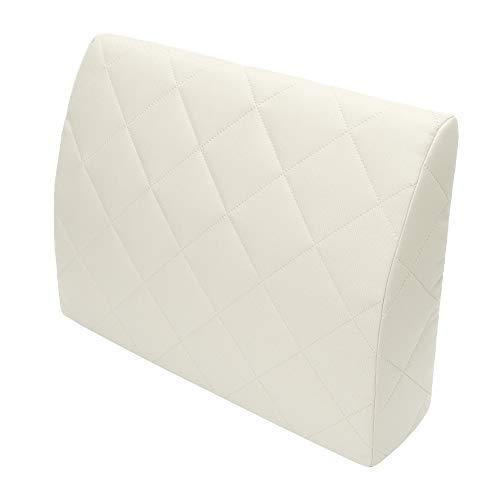 Selfitex Rückenkissen für Bett, Rückenlehne für Sofa, Lesekissen, für Lounge- oder Palettenmöbel, Länge 60 cm, Höhe 45 cm, Made in Germany (weiß) (1) -