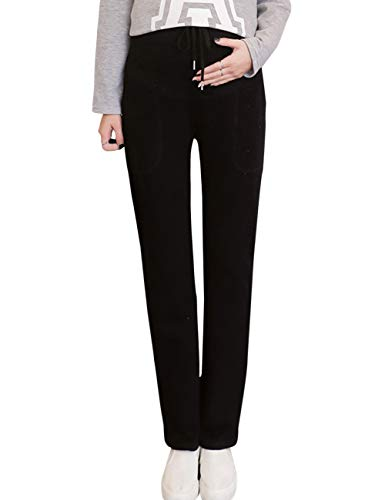 TAAMBAB Femme maternité Pantalon Confortable Coton Leggings Yoga - Grossesse Extensible Casual Pantalon pour Automne Hiver