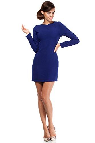 MOE Mini abito con scollato e taglio sui fianchi Blu Royal