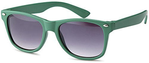 Kinder Pilotenbrille Clubmaster Nerd Sonnenbrille für Mädchen und Jungen Unisex (Grün-Smoke (Nerd Mädchen Outfit Für)