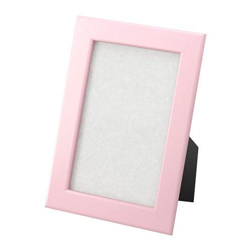 Ikea Fiskbo, marco fotos 10cm x 15cm, color rosa