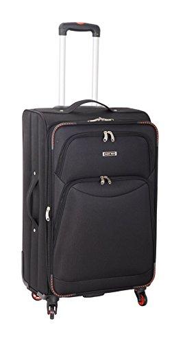 Super Leicht 4Rad Spinner Gepäck Koffer Reise Trolley Fällen Schwarz schwarz 26