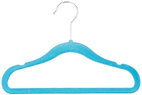 amazonbasics-childrens-hangers-velvet-solid-blue-set-of-30