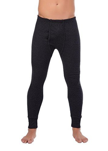 stylenmore Herren Outdoor-Unterwäsche Lange Thermo-Unterhose angeraut Warme Arbeitsunterwäsche (L, Anthrazit)