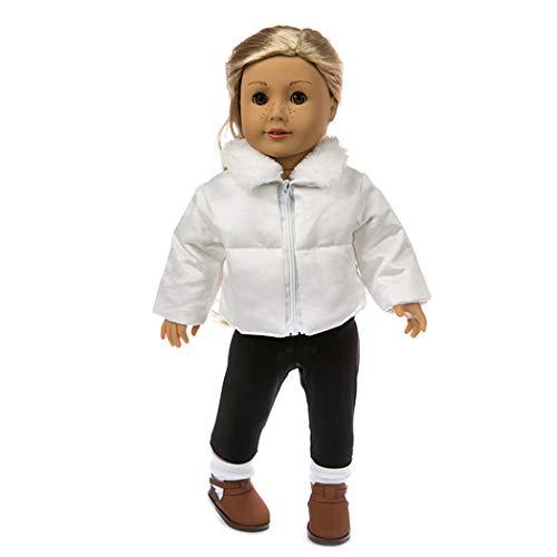Zolimx Daunenjacke Gesetztes 18-Zoll Amerikanisches Zubehör Mädchen Spielzeug kleidet Karikatur Puppe Baumwolljacke Kleidung ()