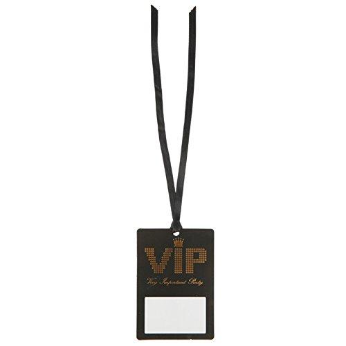 PARTY DISCOUNT ® Namensschild VIP-Pass am Band, 7x10 cm, 10 ()