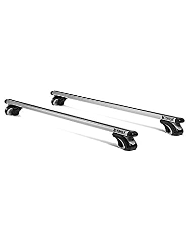 130cm Universal Locking Roof Bars by Vault Cargo – Great for Carrying Rooftop Cargo Bags, Roof Boxes, Roof Bags, Bikes, Canoes, Kayaks, or Skis. Mount bars to your Cars Existing Roof Rack Rail System