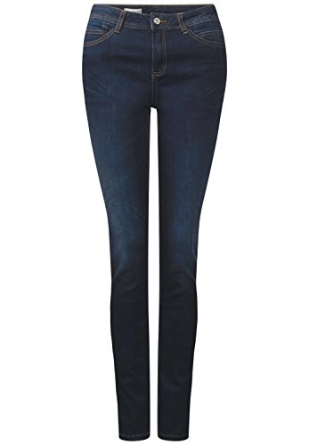 Street One Damen Dunkle Blue Jeans Yoko blue denim wash (blau)