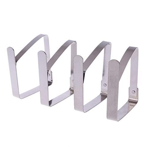 Fogun Tischtuchklammern Set, 4 Stück, Edelstahl, Silber, 8.2 * 7cm