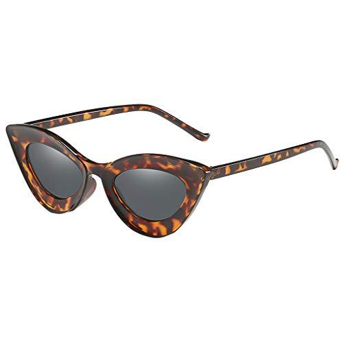 Lazzboy Mann Frauen Cat Eye Sonnenbrille Brille Shades Vintage Retro Style Brillenfassungen Damen Kunststoff Brillen, Sonnenbrillen & Zubehör Amerika Punk Wild Persönlichkeit(Kaffee)