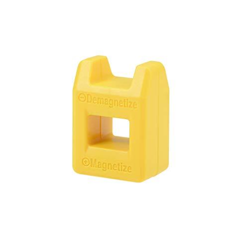 sourcing map Magnetisierer Entmagnetisierer für Schraubendreher Bits Tipps Schraubenzieher Magnetisch Gelb
