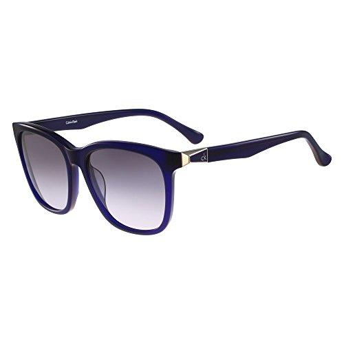 Calvin Klein Platinum - CK4292S, Wayfarer, Acetat, Damenbrillen, BLUE/GREY BLUE SHADED (438 ), 57/17/140
