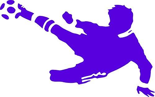 EmmiJules Wandtattoo Fußball-Spieler Fussballer - mit Namen möglich - Made in Germany - in verschiedenen Größen und Farben - Kinderzimmer Junge Fußball WM Sticker Aufkleber (80cm x 50cm, blau)