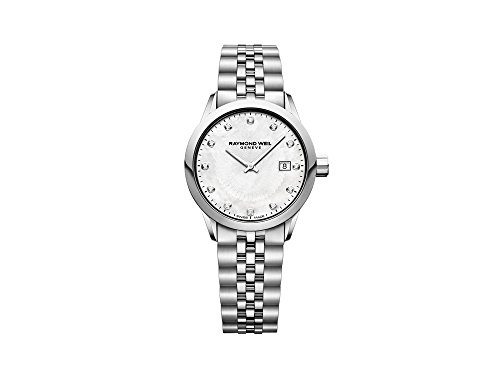 Montre à Quartz Raymond Weil Freelancer Ladies, 12 Diamants, 29mm, 5629-ST-97081