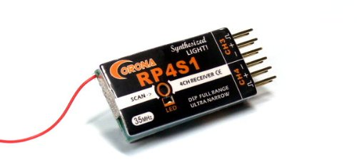 Preisvergleich Produktbild Corona RC Modell RP4S1 4-Kanal 35MHz R/C Hobby Einzel Conversion Receiver RV329 mit RCECHO Vollversion Apps Ausgabe