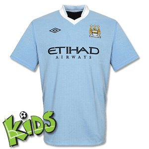 Manchester City 2011/12 Home Kids Replica Football Shirt, Ragazzo, XLB