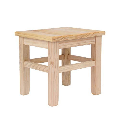 Chaise seeksungm, banc à chaussures en bois classique, banc en bois écologique et facile à nettoyer, tabouret carré Crystalsun