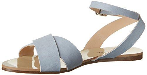 Shoe Biz Flat, Sandali con Zeppa Donna Blu (Nubuk Light Blue)
