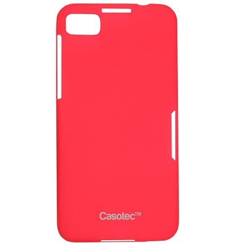 Casotec Frosted Soft TPU Back Case Cover for BlackBerry Z10 - Red  available at amazon for Rs.99