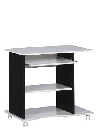 MAJA-Möbel 4024 3537 Computertisch, weiß uni - schwarz, Abmessungen BxHxT: