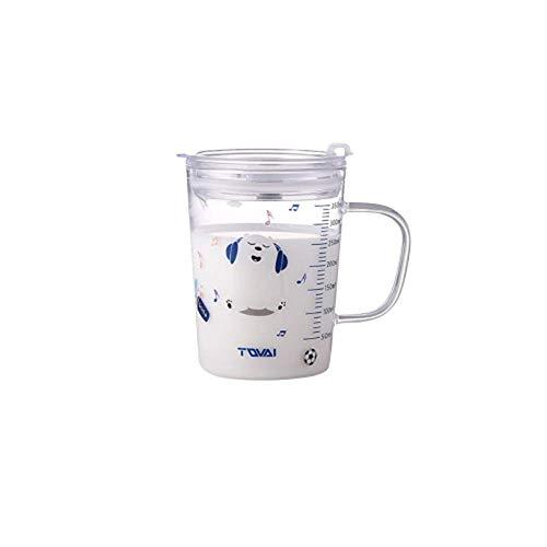 Kaffeetassen Kaffee Kakaotasse Kaffeetasse, Kaffeebecher Tee Mit Skala Stroh Tasse Glas Mädchen Ins Wind Erwachsener Hat Einen Henkel Saft Milch Tasse A1610