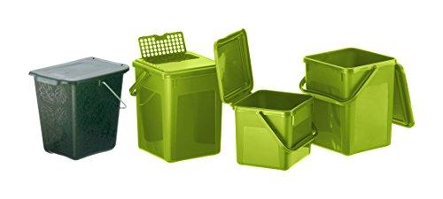 Zoom IMG-2 rotho 483325 compostiera plastica nero