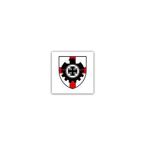 Aufkleber / Sticker -BAAINBw Bundesamt für Ausrüstung Informationstechnik Nutzung Bundeswehr Bw Koblenz Ausstattung Technische Dienstleister Wappen Abzeichen Emblem 7x7cm #A2669