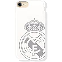 Real Madrid RMCAR009 - Carcasa con escudo Apple iPhone 7, Blanco